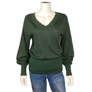 Michael Kors Green Shimmer Sweater Size S